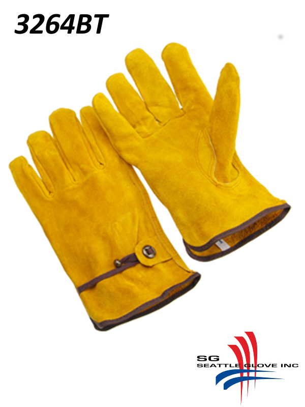 Seattle Glove 3264BT, Unlined Select Russet Cowhide Drivers, Split Shoulder Leather, Keystone Thumb, Ball and Tape Back/$ per Dozen