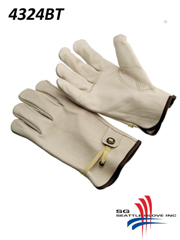 Seattle Glove 4324BT, Unlined Grain Cowhide Driver, Keystone Thumb, Ball and Tape Back/$ per Dozen