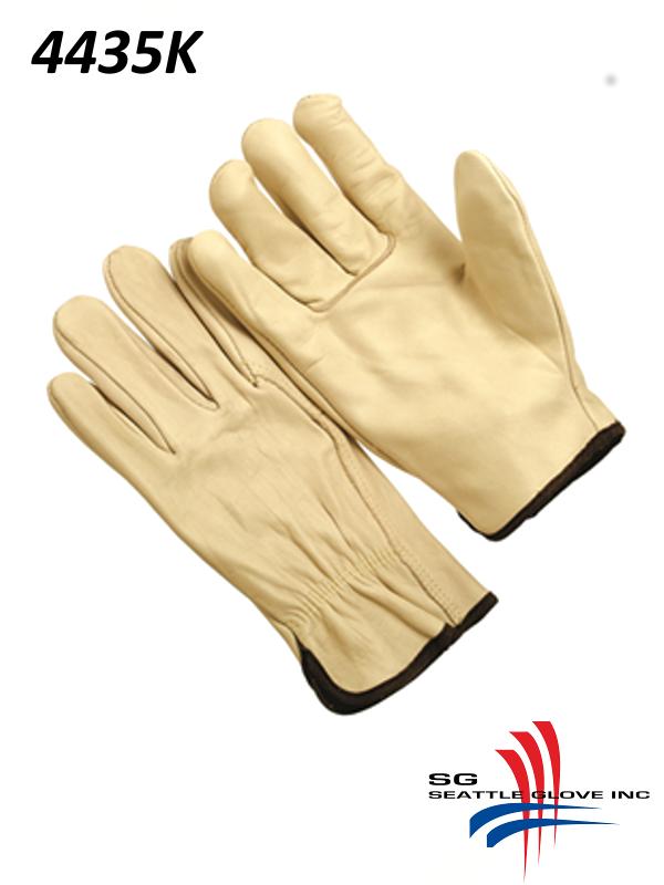 Seattle Glove 4435K, Unlined Premium Grain Drivers, Wing Thumb, Sewn with Kevlar Thread/$ per Dozen
