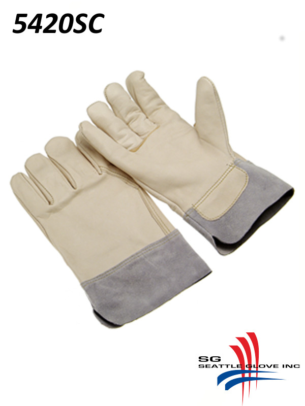 Seattle Glove 5420SC, A-Grade Cowhide, Grain Palm and Back, Wing Thumb, Split Safety Cuff/$ per Doz