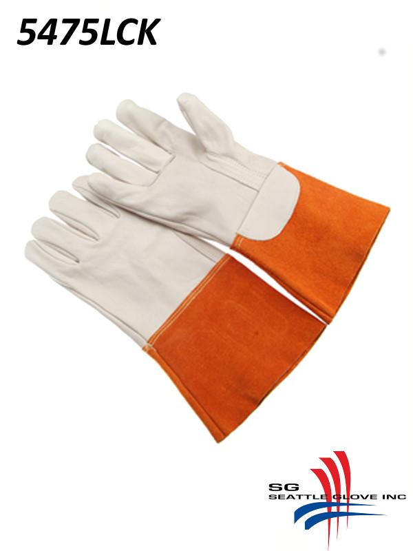 Seattle Glove 5475LCK, Grain Welder, Straight Thumb, Split Gauntlet Cuff, Kevlar Sewn/$ per Doz