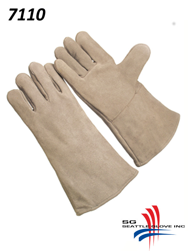 Seattle Glove 7110, Regular Pearl Shoulder Leather, Fully Lined, Self-Hemmed Leather Cuff/$ per Doz