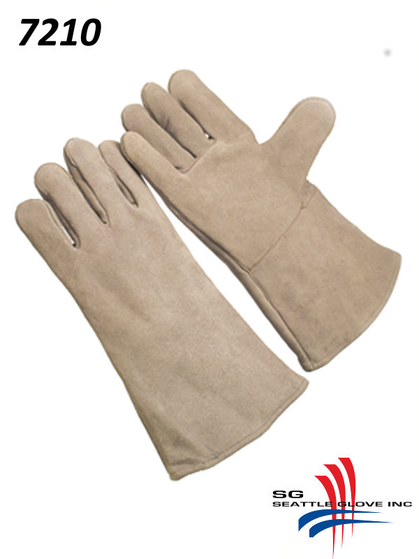 Seattle Glove 7210, Select Pearl Shoulder Leather, Fully Lined, with Self-Hemmed Leather Cuff/$ per Dozen