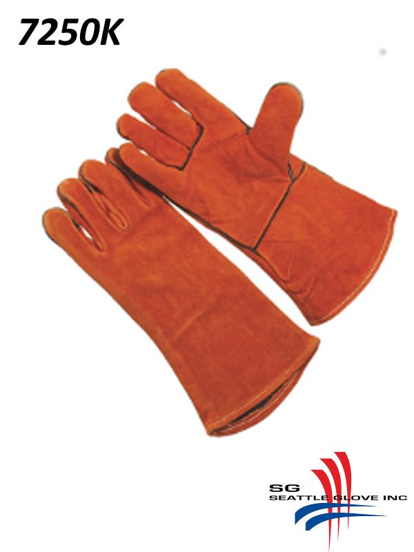Seattle Glove 7250K, Premium Select Russet Shoulder Leather, Sock Lined, Kevlar Sewn/$ per Dozen