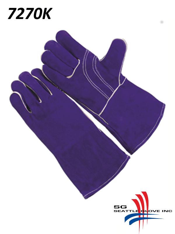 Seattle Glove 7270K, Premium Select Blue Shoulder Leather, Reinforced Thumb Strap, Foam Lined, Kevlar Sewn/$ per Dozen