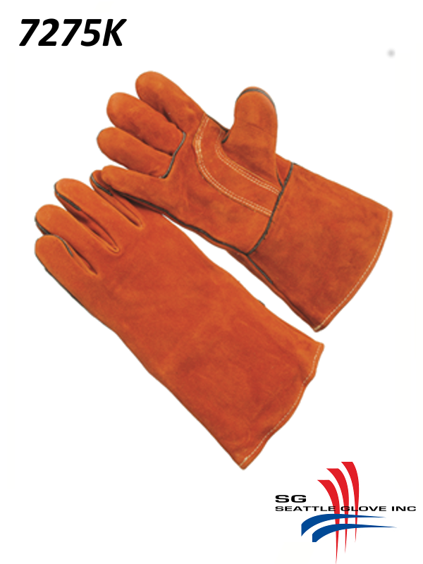 Seattle Glove 7275K, Premium Grade Select Russet Shoulder Leather, Reinforced Thumb Strap, Foam Lined, Kevlar Sewn/$ per Dozen