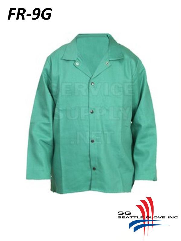 Seattle Glove FR-9G, Flame Resistant Welding Jacket, 4 Buttons, Inside Pocket/$ per Each