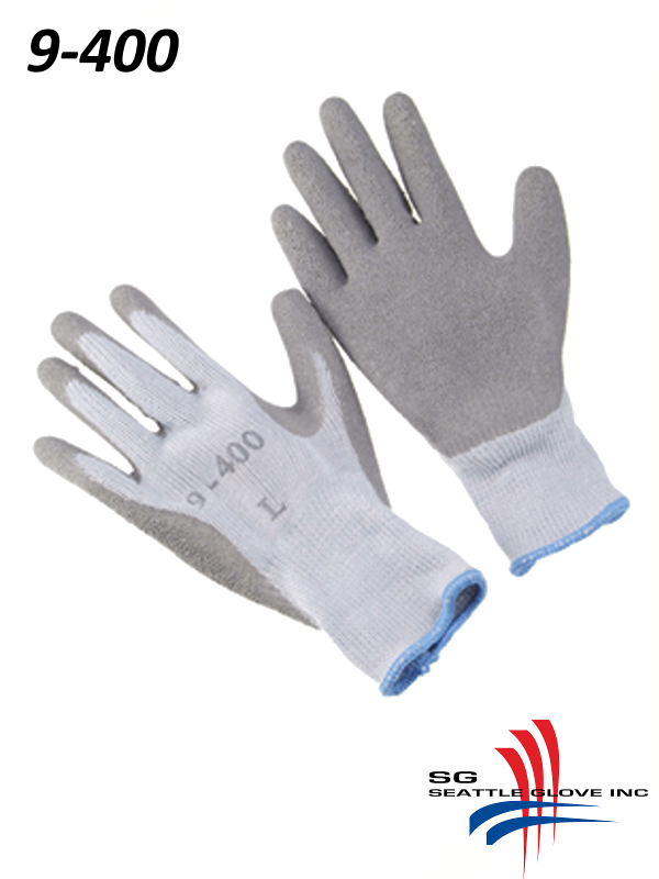 Seattle Glove 9-400, Jersey Lined Rubber Dipped Gloves with Palm Coating/$ per Dozen