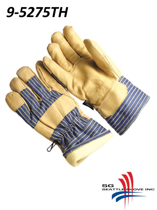 "Seattle Glove 9-5275TH, Premium Grain Pigskin, Lined with 100 Grams 3M Thinsulate, 2.5"" Safety Cuff/$ per Dozen"