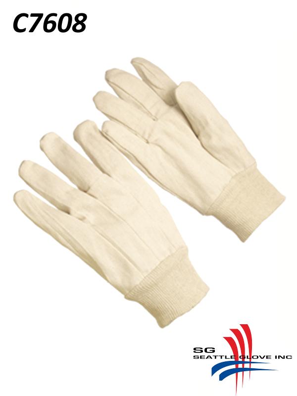 Seattle Glove C7608, Cotton/Canvas Double Palm Men's Gloves, Knit Wrist/$ per Dozen