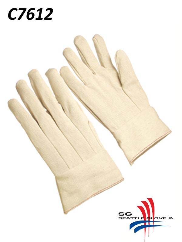 Seattle Glove C7612, Men's 12 oz. Cotton/Canvas Double Palm Gloves with Knit Wrist/$ per Dozen