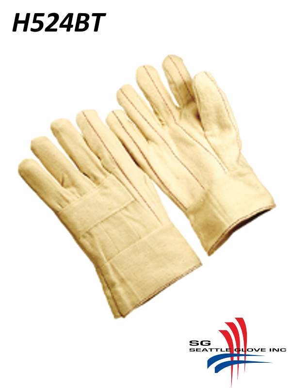 Seattle Glove H524BT, Cotton Hot Mills Double Layer Gloves, Nap-Out, 2-ply, Band Top/$ per Dozen