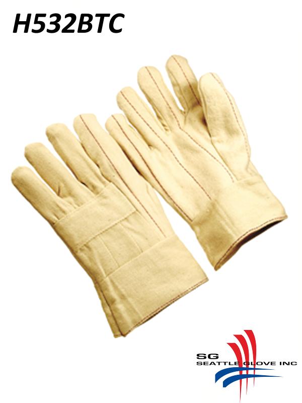 Seattle Glove H532BTC, Heavy Weight Hot Mills Gloves, Triple Layer Cotton and Band Top Cuff/$ per Dozen
