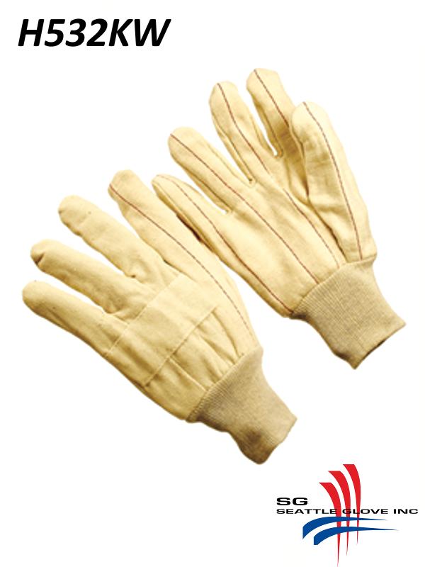Seattle Glove H532KW, Heavy Weight Hot Mills Gloves, Triple Layer with Burlap and Knit Wrist Cuff/$ per Dozen