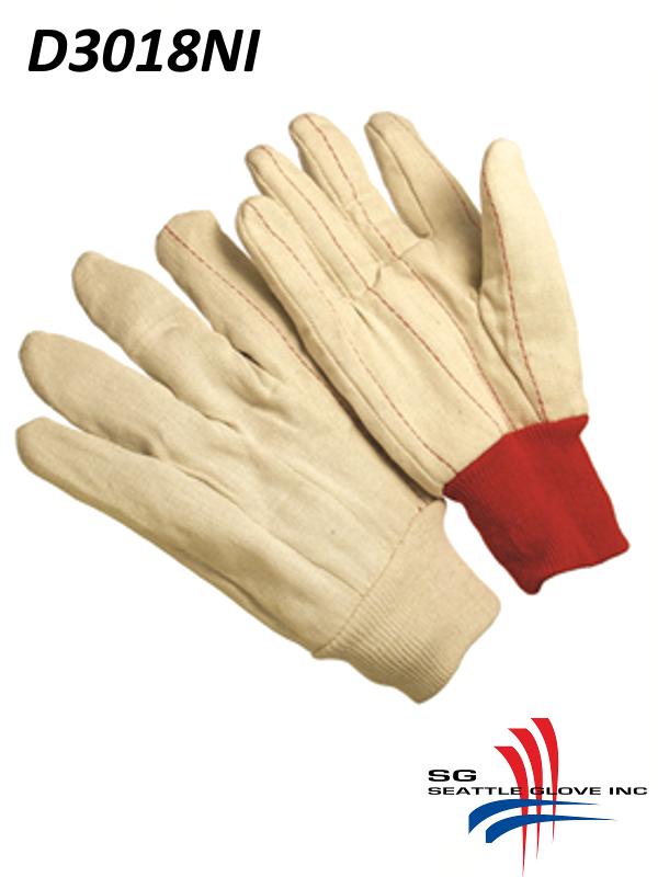Seattle Glove D3018NI, Double Palm Glove, Nap-In with Natural Knit Wrist/$ per Dozen