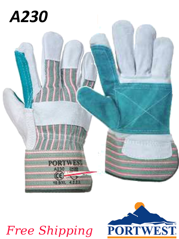 Portwest A230,  Double Palm Rigger Glove/SHIPPING INCLUDED/$ per Pair