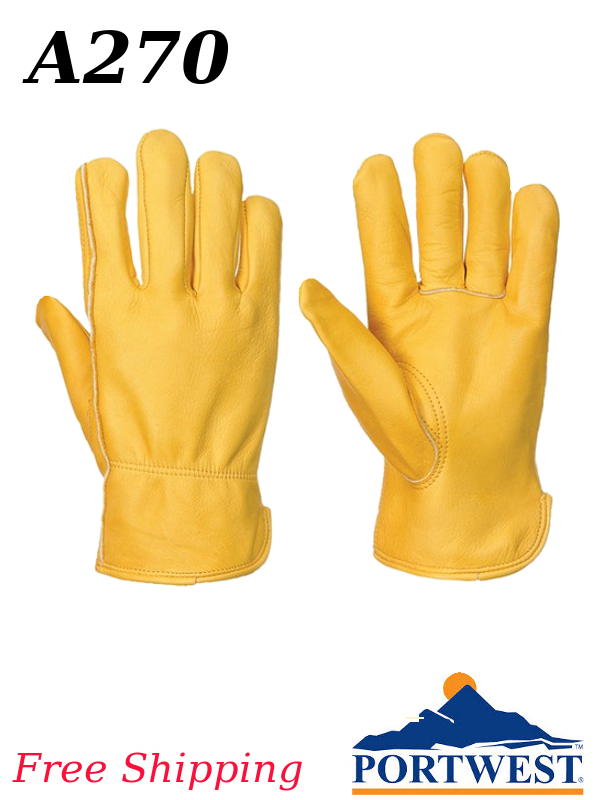 Portwest A270, Classic Leather Driver Glove/SHIPPING INCLUDED/$ per Pair
