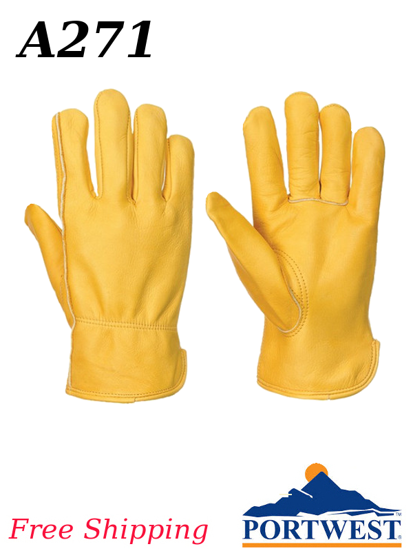 Portwest A271, Lined Classic Leather Driver Glove, Thinsulate LINED/SHIPPING INCLUDED/$ per Pair