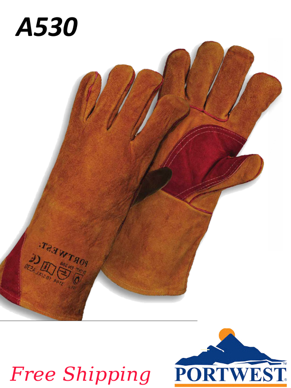 Portwest A530, Reinforced Welding Protective Gauntlet/FREE SHIPPING /$ per Pair