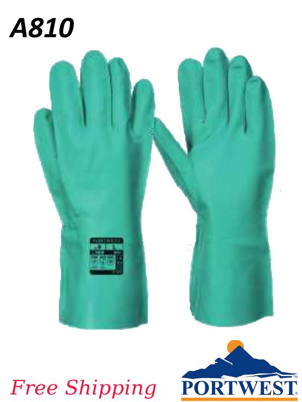 Portwest A810, Nitrosafe - A Chemical Resistant Gauntlet Providing Enhanced Grip/FREE SHIPPING/$ per Pair