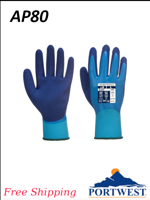 Portwest AP80, Liquid Pro Glove, Newest in Double Coating Technology/FREE SHIPPING/$ per Pair