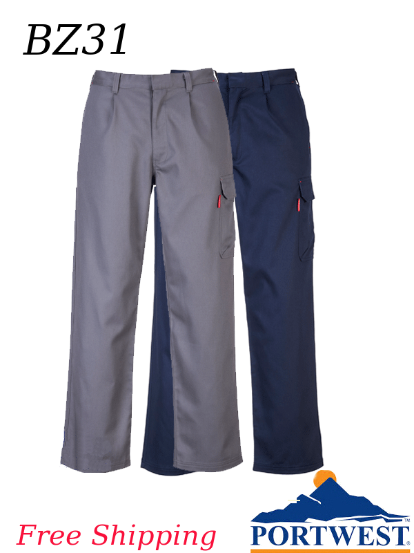 Portwest BZ31, Bizweld Flame Resistant Workwear - Cargo Pants/FREE SHIPPING/$ per Pair