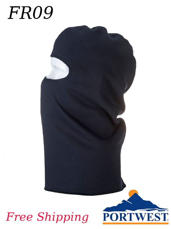 Portwest FR09, ModaFlame Flame Resistant, Anti-Static Balaclava/SHIPPING INCLUDED/$ per Each