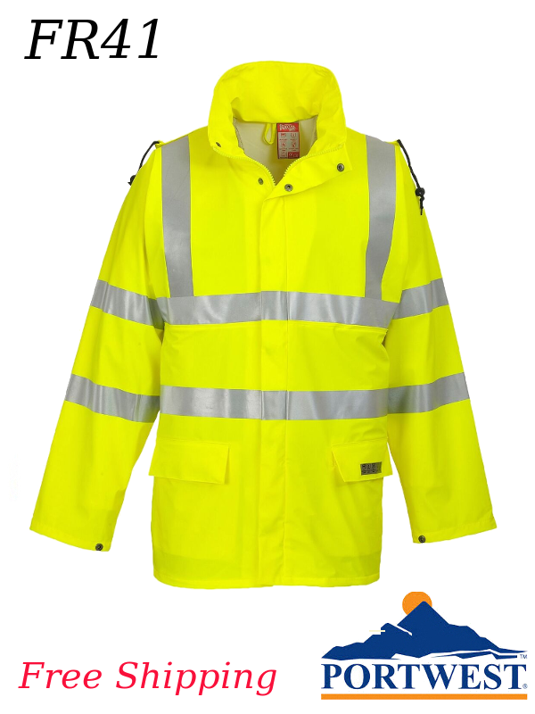 Portwest FR41, Sealtex (Flame Resistant) Hi-Vis Waterproof Jacket/SHIPPING INCLUDED/$ per Jacket