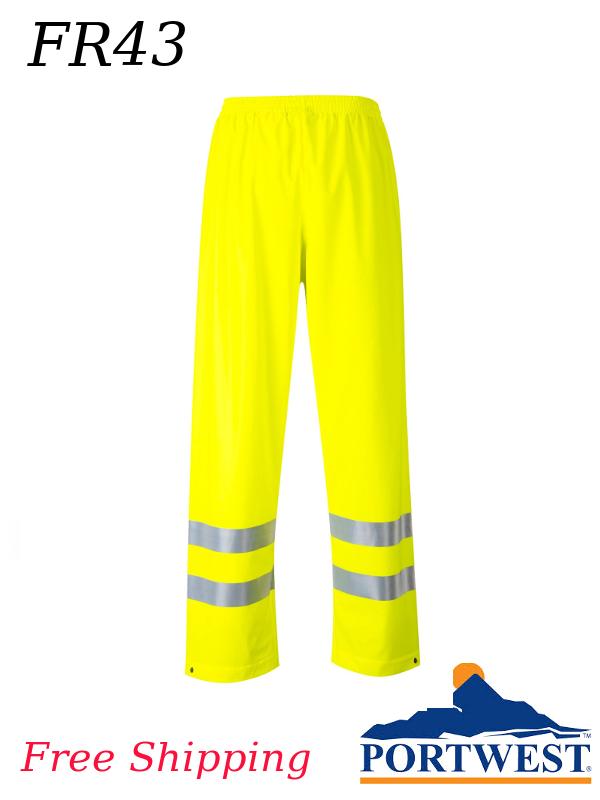 Portwest FR43, Sealtex (Flame Resistant) Hi-Vis Waterproof Pant/SHIPPING INCLUDED/$ per Pair