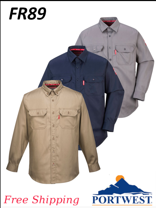 Portwest FR89, Bizflame 88/12 Flame Resistant Shirt/SHIPPING INCLUDED/$ per Shirt