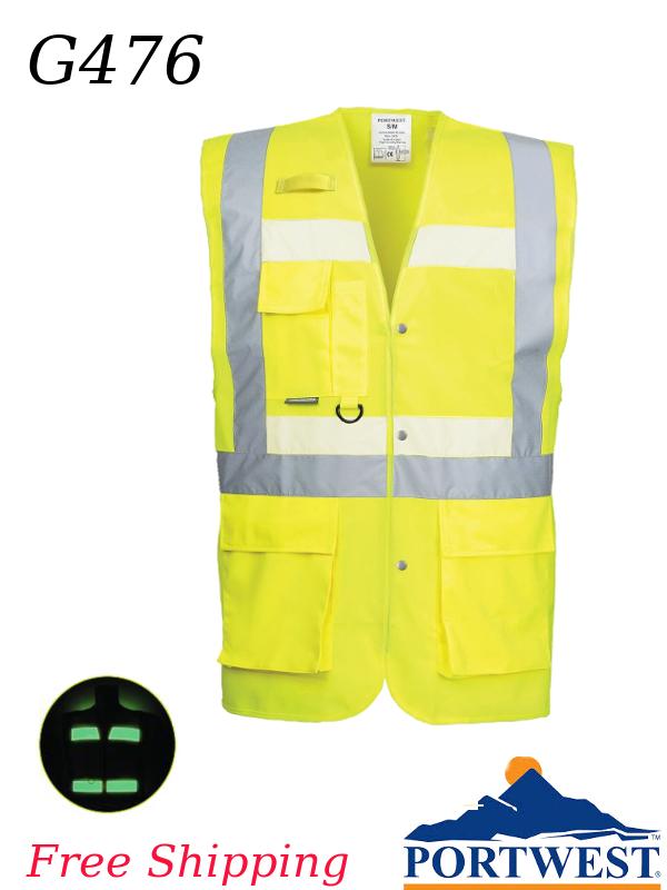 Portwest G476, Hi-Vis Glowtex Triple Vest/SHIPPING INCLUDED/$ per Each