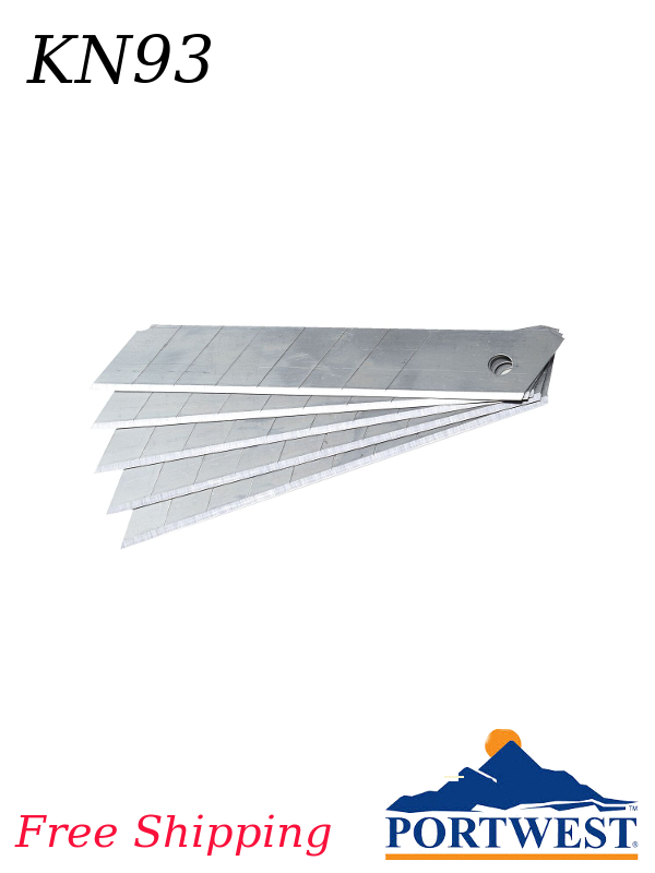 Portwest KN93, 10 Replacement Blades for Snap Off KN18/FREE SHIPPING/$ per Package