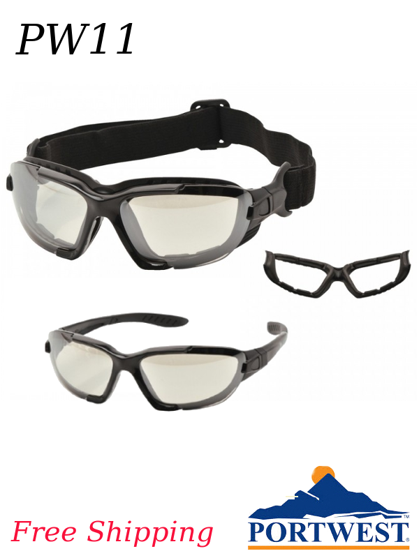 Portwest PW11, Levo 2-in-1 Safety Glass/Goggle Combination/FREE SHIPPING/$ per Pair