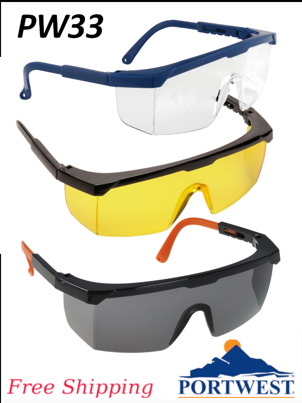 Portwest PW33, Classic Safety Glasses/FREE SHIPPING/$ per Pair