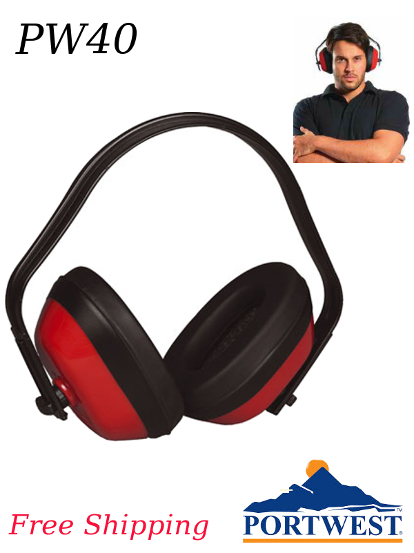 Portwest PW40, Classic Ear Protector, NRR 22dB/FREE SHIPPING/$ per Pair