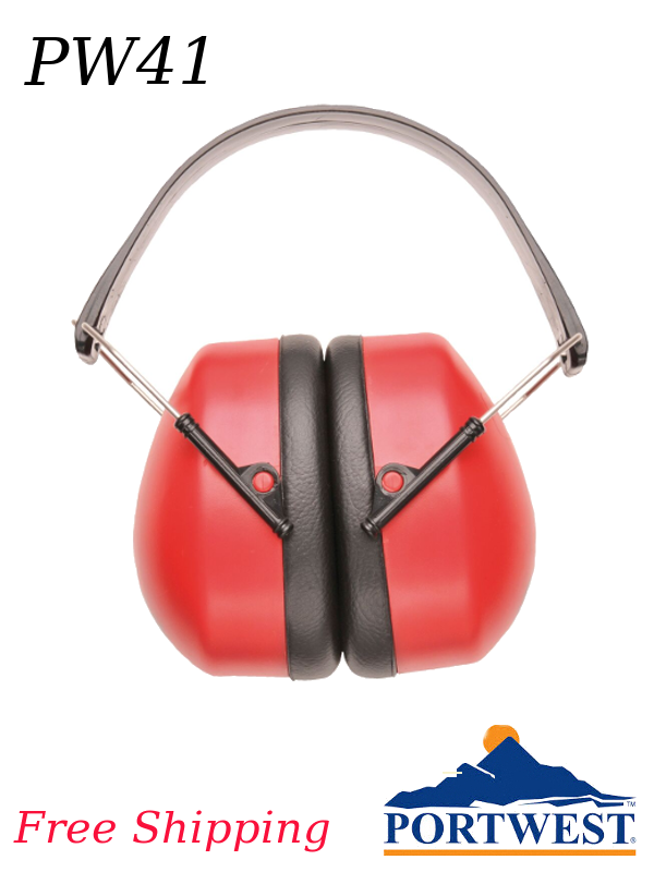 Portwest PW41, Super Ear Protector, NRR 25dB/FREE SHIPPING/$ per Pair