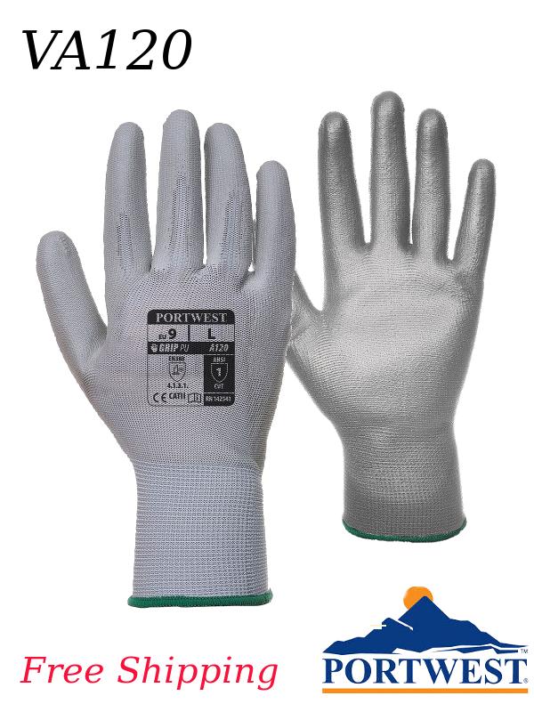 Portwest VA120, Vending Machine Ready, Nylon and Polyurethane Palm Coated Gloves/Free Shipping/$ per Pair