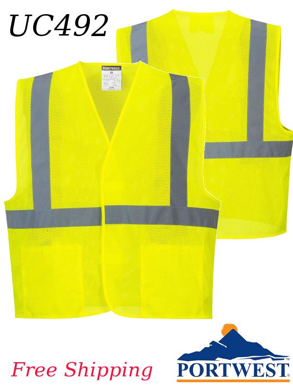Portwest UC492, Economy Mesh Vest/SHIPPING INCLUDED/$ per Vest