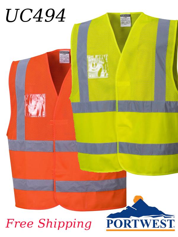 Portwest UC494, Hi-Viz Mesh Vest, ANSI Class 2/SHIPPING INCLUDED/$ per Vest