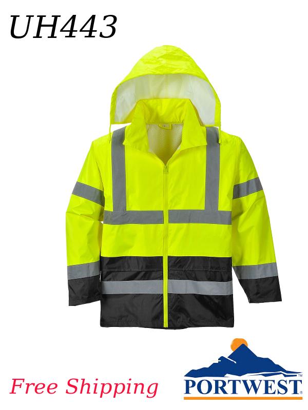 Portwest UH443, Hi-Vis Classic Contrast Rain Jacket/FREE SHIPPING/$ per Jacket