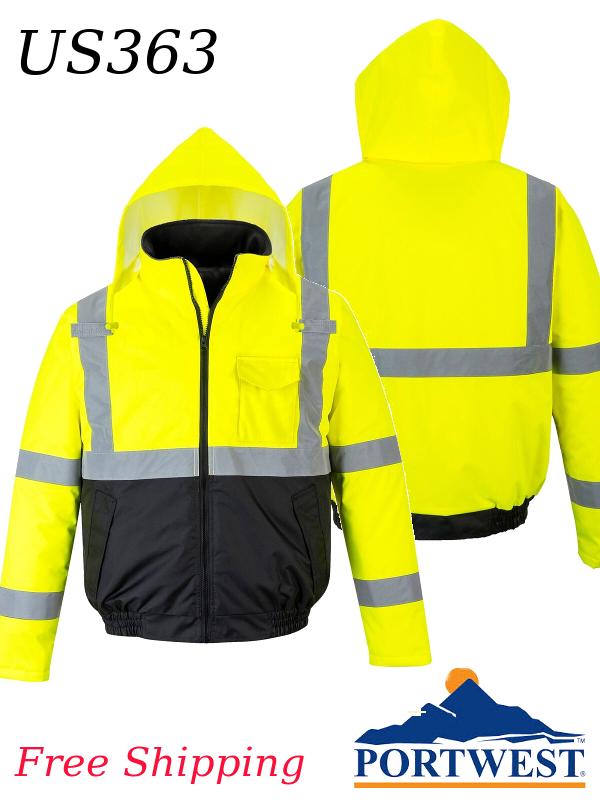 Portwest US363, Hi-Vis, Value Priced Waterproof Bomber Jacket/FREE SHIPPING/$ per Jacket