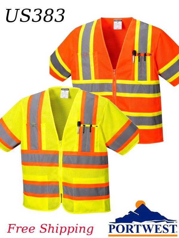 Portwest US383, Augusta Sleeved Hi-Vis Vest /SHIPPING INCLUDED/$ per Vest