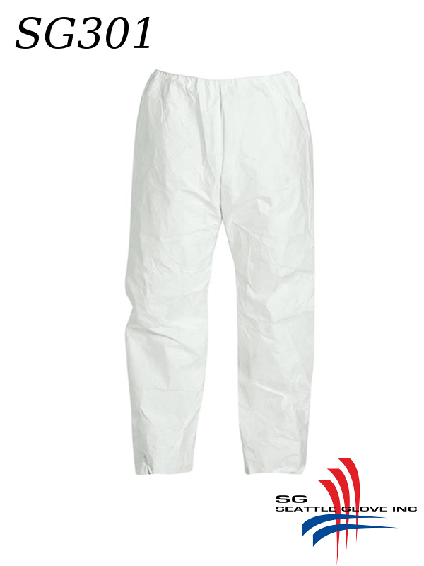 Seattle Glove SG301, Tyvek Pant with Elastic Waist/$ per Case of 50