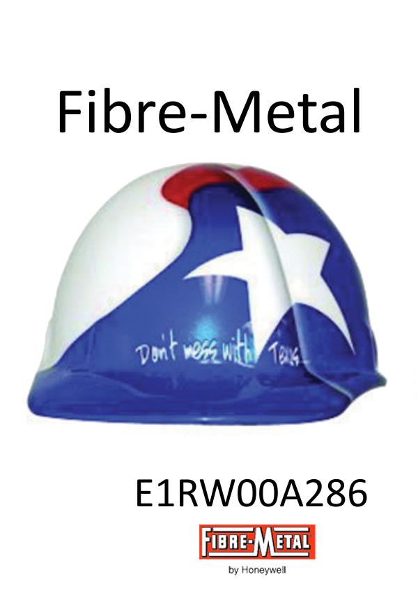 Fibre-Metal E2RW00A286, Cap Style Hard Hat with Texas Flag Graphic, SuperEight Rachet Suspension/$ per Each