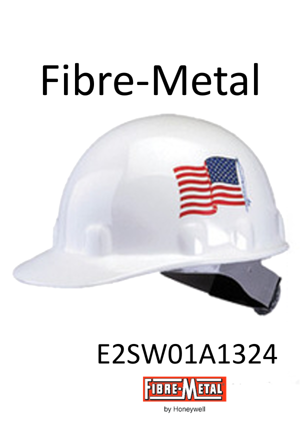 Fibre-Metal E2SW01A1324, Cap Style Hard Hat with American Flag Graphic, SuperEight Rachet Suspension/$ per Case of 40 - $844.50