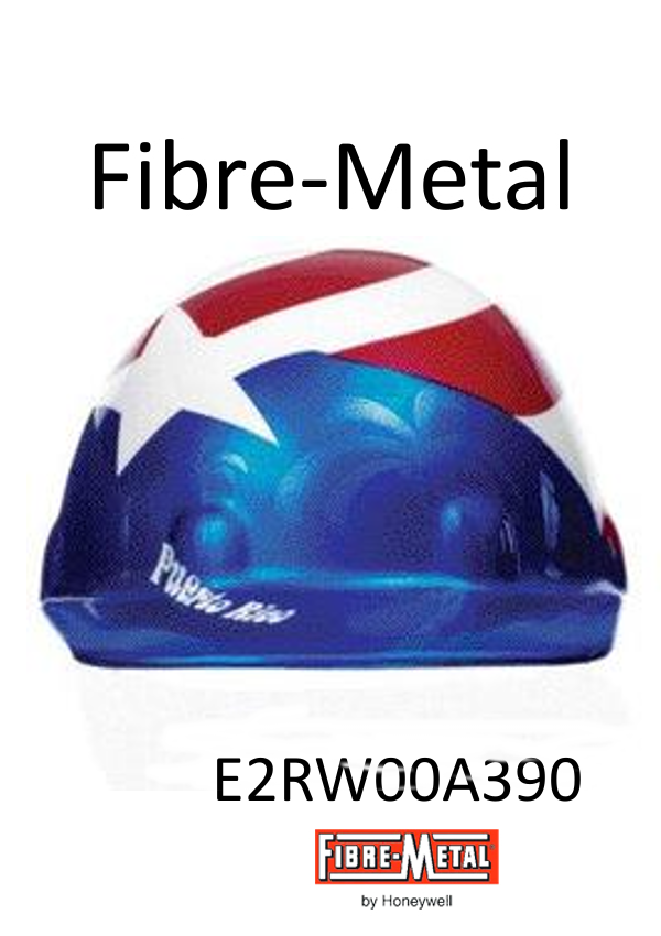 Fibre-Metal E2RW00A390, Cap Style Hard Hat with Puerto Rican Flag Graphic, SuperEight Rachet Suspension/$ per Case of 20 - $733.00