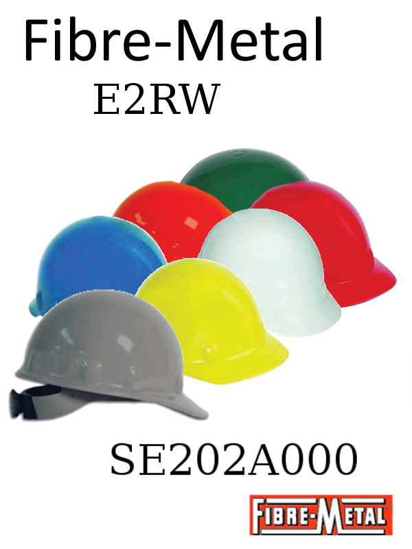 Fibre-Metal SE201A000, E-2RW Thermoplastic Cap Style Hard Hat With SuperEight Ratchet Suspension