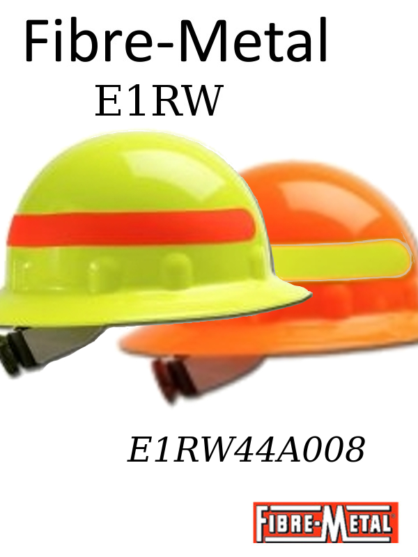 Fibre-Metal E1RW, E1 Thermoplastic Hi-Vis Full Brim Hard Hat With 8 Point Ratchet Suspension/Case $371.84