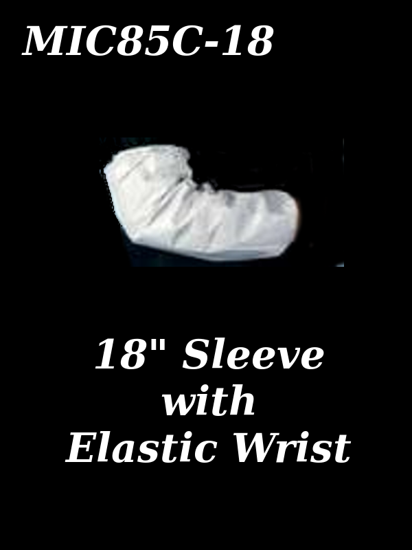 """Seattle Glove MIC85C-18, MICROPORUS COVERALL 18"""" SLEEVE with Elastic Wrist/$ per Case of 200"""