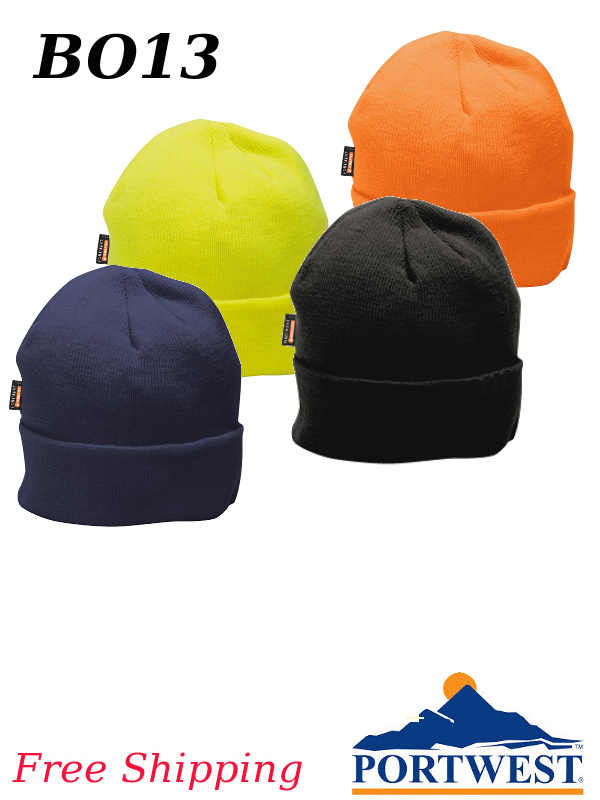 Portwest B013, Acrylic Knit Cap with Insulatex Lining/FREE SHIPPING/$ per Each